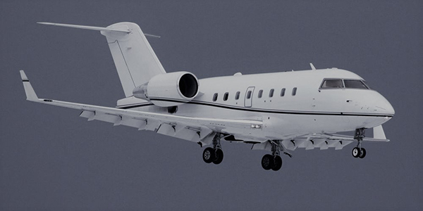 Beautiful Final Approach Of The Challenger 600
