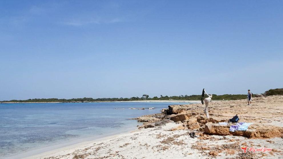 playa de es caragol en Mallorca