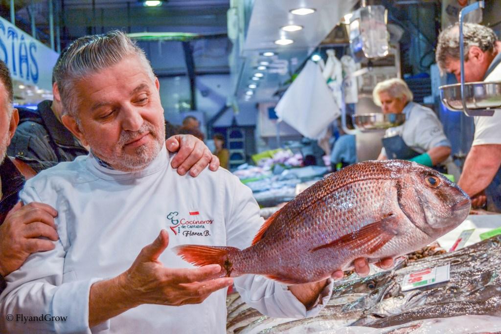 Chef Floren Bueyes en el Mercado de la Esperanza