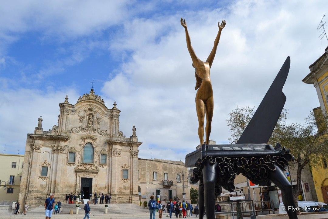 Esculturas de Dalí en Matera