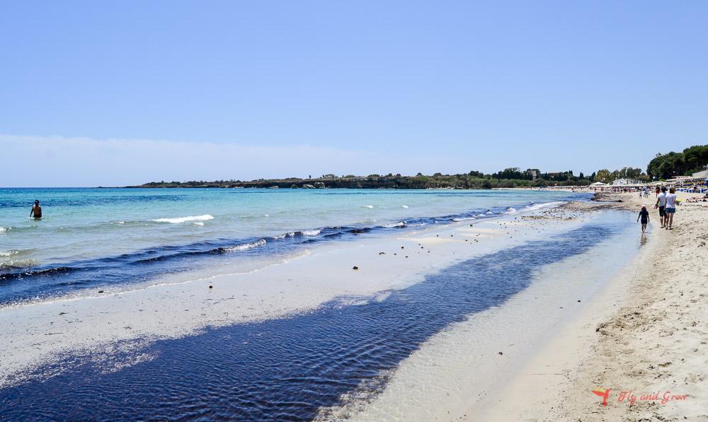 Playa de Fontane Bianche en Sicilia