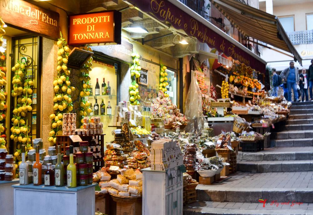 tienda artesanía Taormina