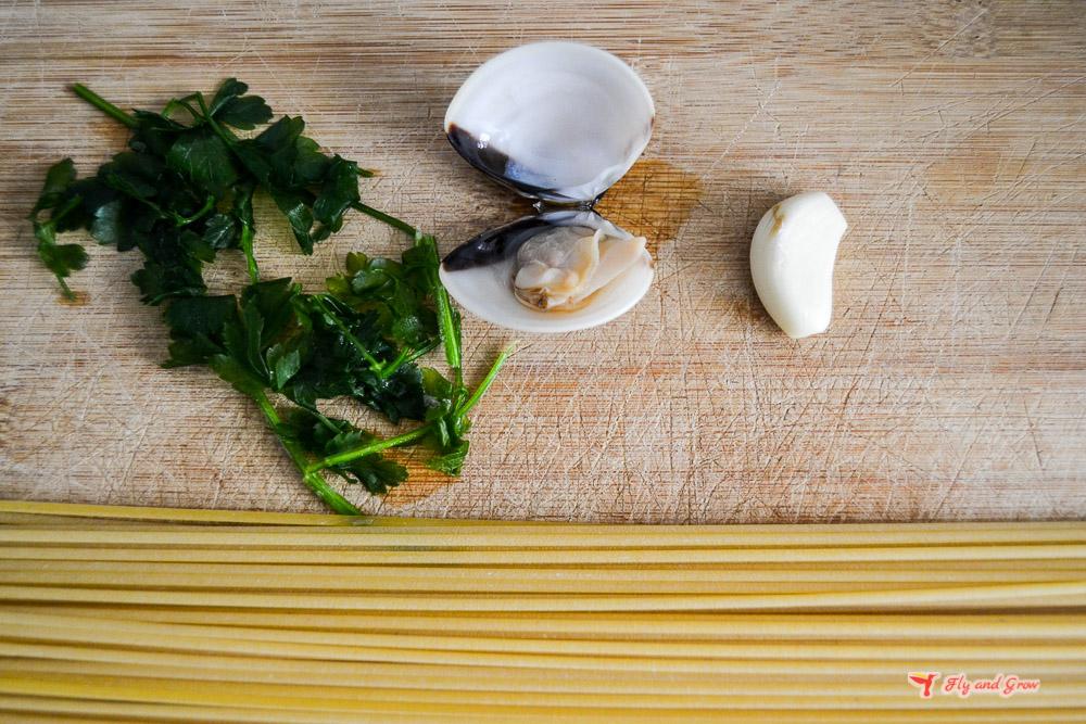 receta espaguetis con almejas italianos