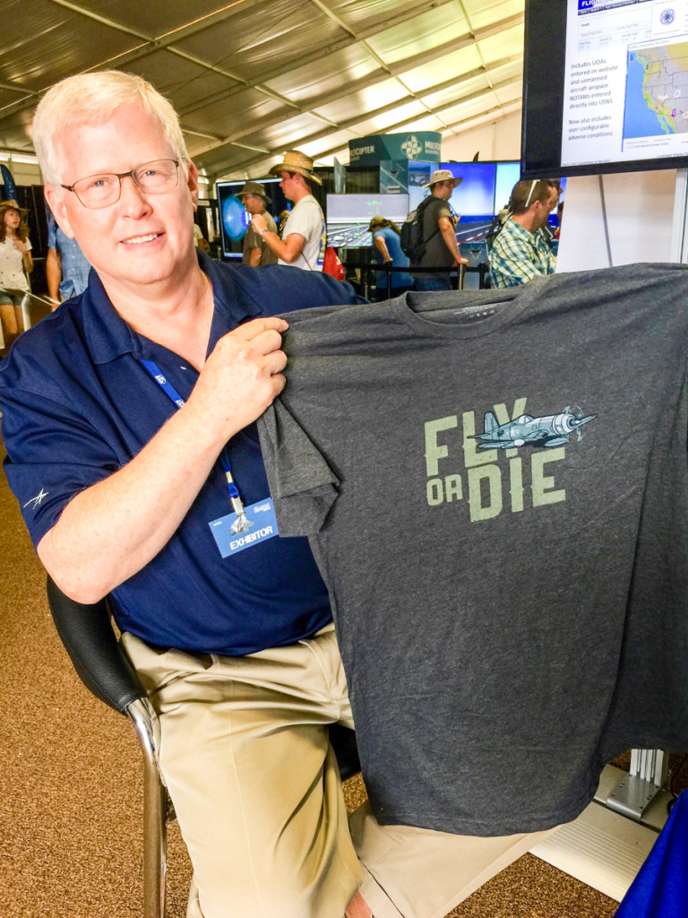 Mike Glasgow from Lockheed Martin Flight Service, aka, 1-800-WX-BRIEF. He was previously on AviatorCast, and was very excited to get a shirt.