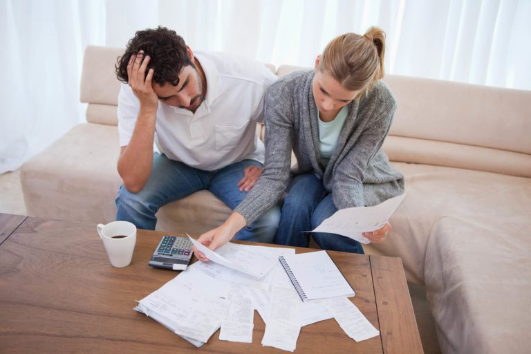 Couple doing financial planning