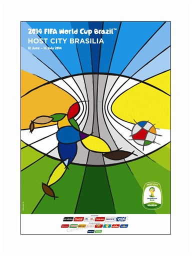 World Cup Poster Brasilia