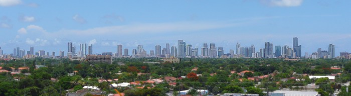 Miami Skyline from West