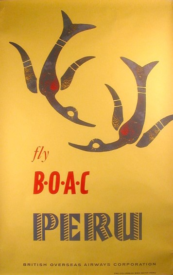 BOAC travel poster 1970