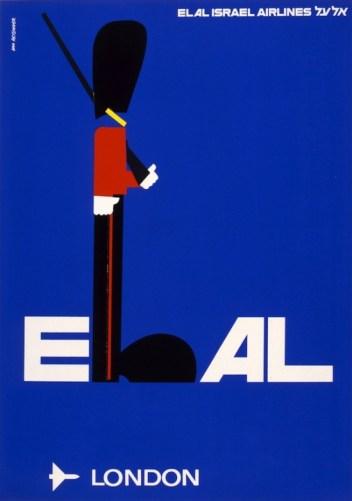 El Al airline poster 1970