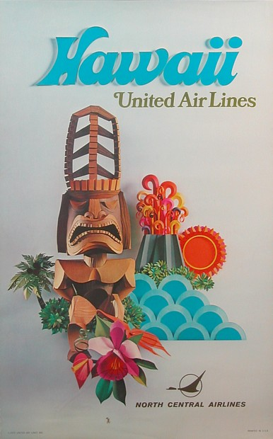 United airline poster 1970