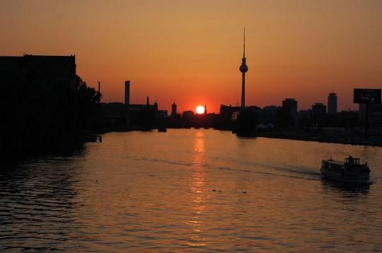 Berlin at sunset. Photo courtesy das_sabrinchen via Flickr.