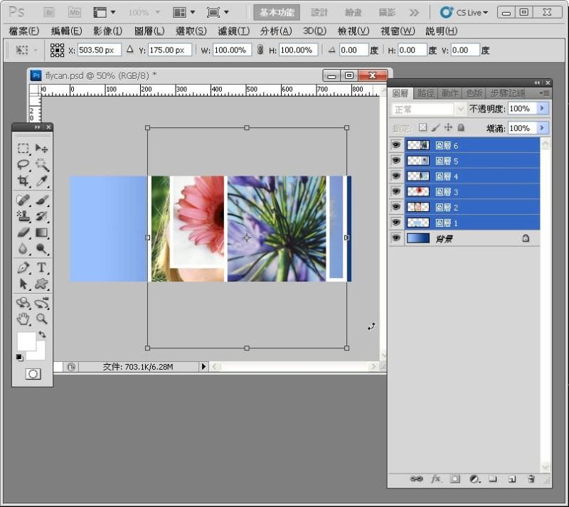 Photoshop 影像設計  - PHOTOSHOP 入門教學 - 圖片固定裁切與白邊 - SNAG0028