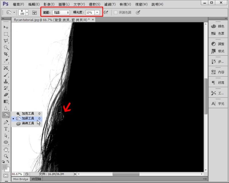 Photoshop 影像設計  - Photoshop 教學 - 色版去背 - 頭髮去背 - 標準教學 - fly-08-1