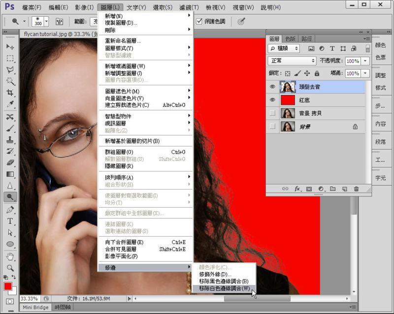 Photoshop 影像設計  - Photoshop 教學 - 色版去背 - 頭髮去背 - 標準教學 - fly-221