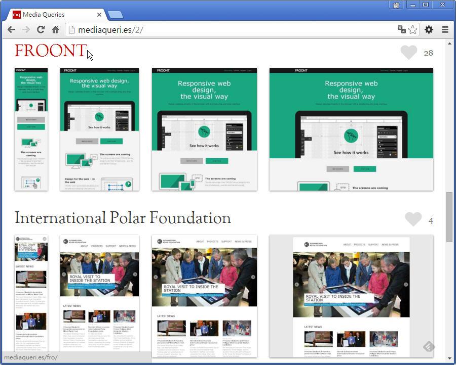 【好站報報】 RWD 版型參考網站 - 【飛肯設計學苑】教學