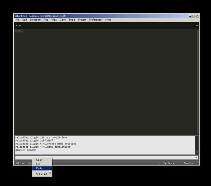 CSS 教學 - 網頁排版 Dreamweaver 網頁設計 Free Resource 好康報報 JavaScript 程式設計 RWD 響應式網頁  - 教學:Sublime Text 的安裝設定及入門操作 - [ 上篇 ] - sub-09