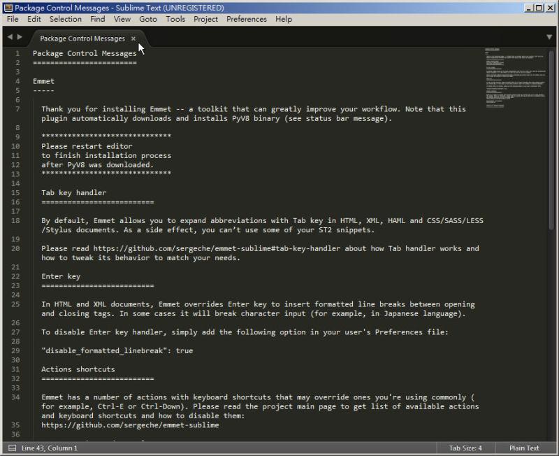 CSS 教學 - 網頁排版 Dreamweaver 網頁設計 Free Resource 好康報報 JavaScript 程式設計 RWD 響應式網頁  - 教學:Sublime Text 的安裝設定及入門操作 – [ 下篇 ] - sub-16