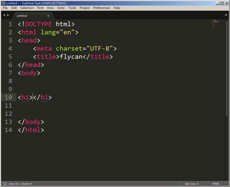 CSS 教學 - 網頁排版 Dreamweaver 網頁設計 Free Resource 好康報報 JavaScript 程式設計 RWD 響應式網頁  - 教學:Sublime Text 的安裝設定及入門操作 – [ 下篇 ] - Sub-23