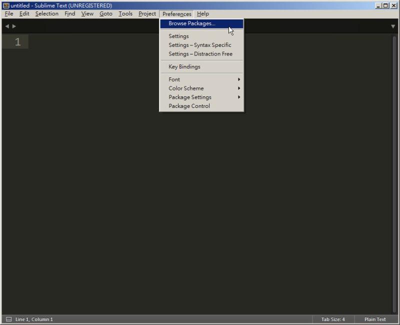 CSS 教學 - 網頁排版 Dreamweaver 網頁設計 Free Resource 好康報報 JavaScript 程式設計 RWD 響應式網頁  - 教學:Sublime Text 的安裝設定及入門操作 – [ 下篇 ] - sub-32