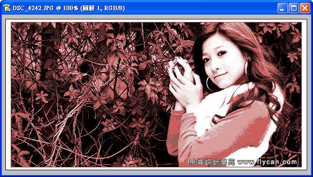 Photoshop 後製修圖  - Photoshop 教學 - 色調分離 - 復古風格、網線效果、網點效果 - flycan_0007_111