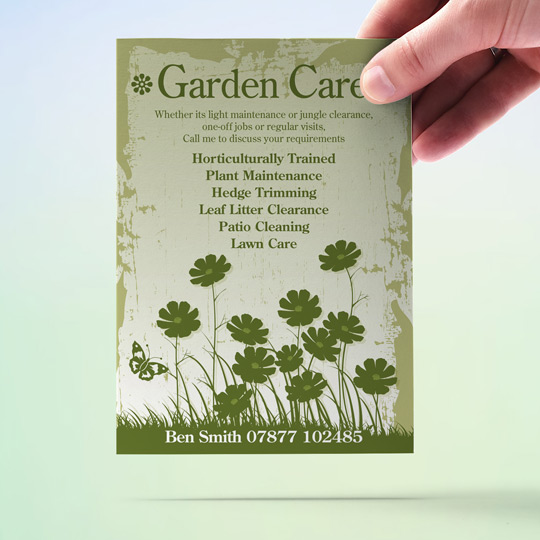 Gardening Flyers Garden Care Garden Maintenance A6