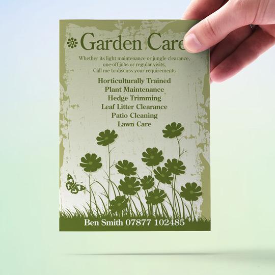 Gardening Flyers Garden Care Garden Maintenance A6