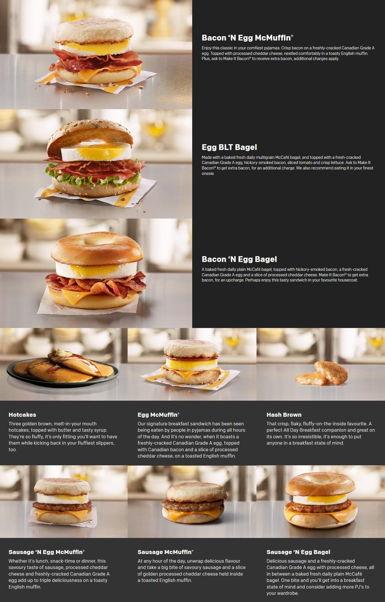 McDonalds Canada Menu Flyer and Coupons