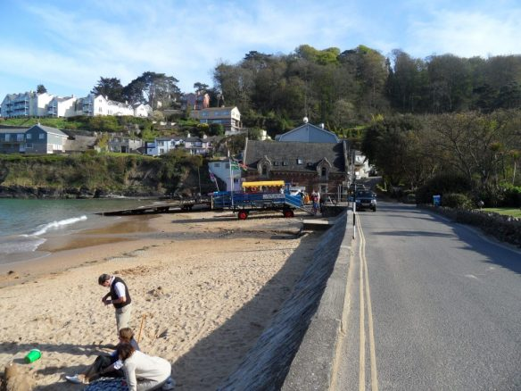 Walking back from town, this is the first beach with passenger ferry tractor parked up.