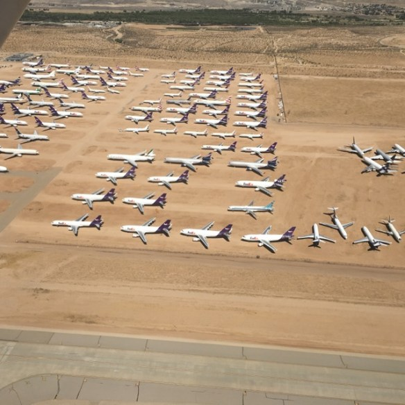 Just a sample of parked airliners