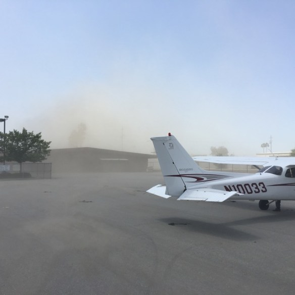 Dust storm at Bakersfield