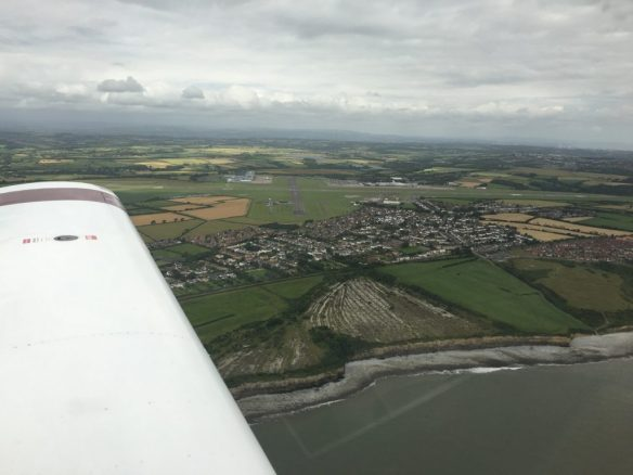 Cardiff Airport from the south