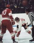 BOB CLARKE CANADA CUP FACEOFF PHOTO PHILADELPHIA FLYERS HALL OF FAME 2