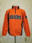 Philadelphia Flyers Men L Half Zip Lightweight Mesh Lined Jacket NHL A12MRM