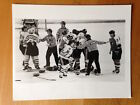 CHICAGO BLACKHAWKS RARE 1990 PHOTO BRAWL with PHILADELPHIA FLYERS 8x11 VINTAGE