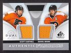 2012 13 SP Game Used Authentic Fabrics Dual AF2 HB Scott Hartnell Daniel Briere