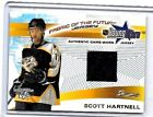 SCOTT HARTNELL 2002 BOWMAN YOUNG STARS FABRIC OF THE FUTURE WORN JERSEY RC