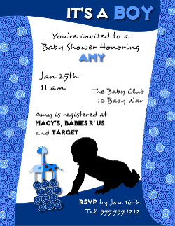 Baby Shower Invitation Flyer Template for a Boy created with ...