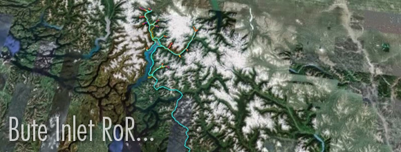 Bute Inlet Run of River Aerial Map :: Google Maps