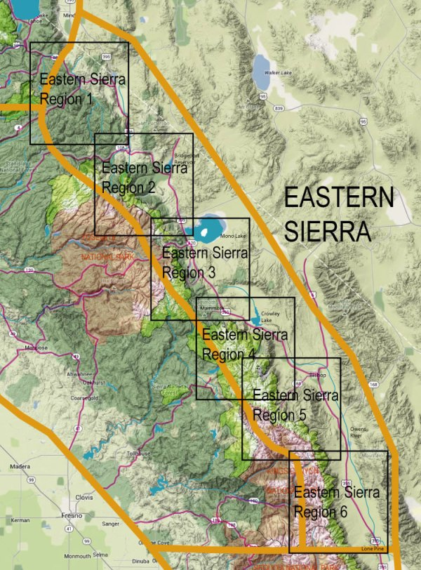 Image maps for Eastern Sierra Flyfishing Locations