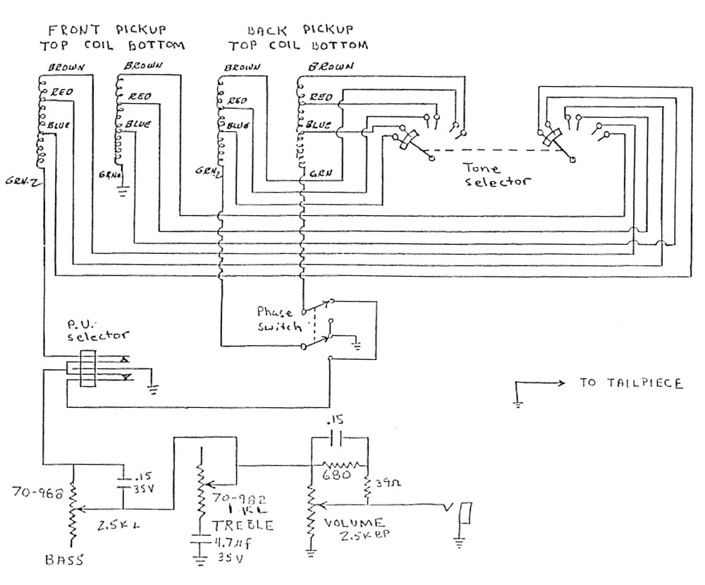 hight resolution of gibson les paul bass circuitry and wiring information u003e u003e flyguitars gibson grabber wiring illustration and schematic