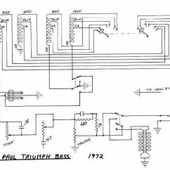 Bass Guitar Wiring Diagram 2003 Chevy Avalanche Ignition Les Paul Triumph