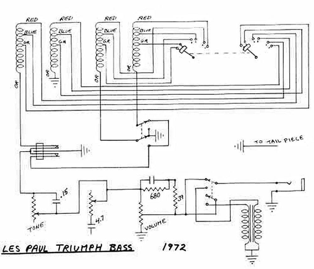 medium resolution of gibson les paul triumph bass circuitry and wiring information rh flyguitars com 1959 gibson les paul wiring diagram for guitar 2012 gibson les paul studio