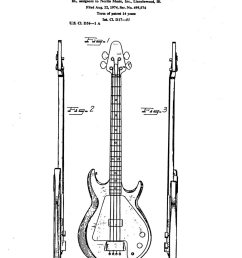 gibson grabber bass patent filed 1974 granted 1976 page 1 [ 775 x 1102 Pixel ]