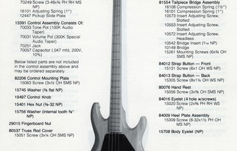 Gibson Grabber Bass Guitar parts lists >> FlyGuitars
