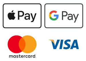 Accepted payment methods Apple Pay, G Pay, Mastercard, Visa
