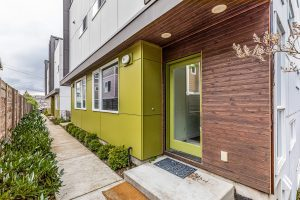 Seattle townhouse with green door