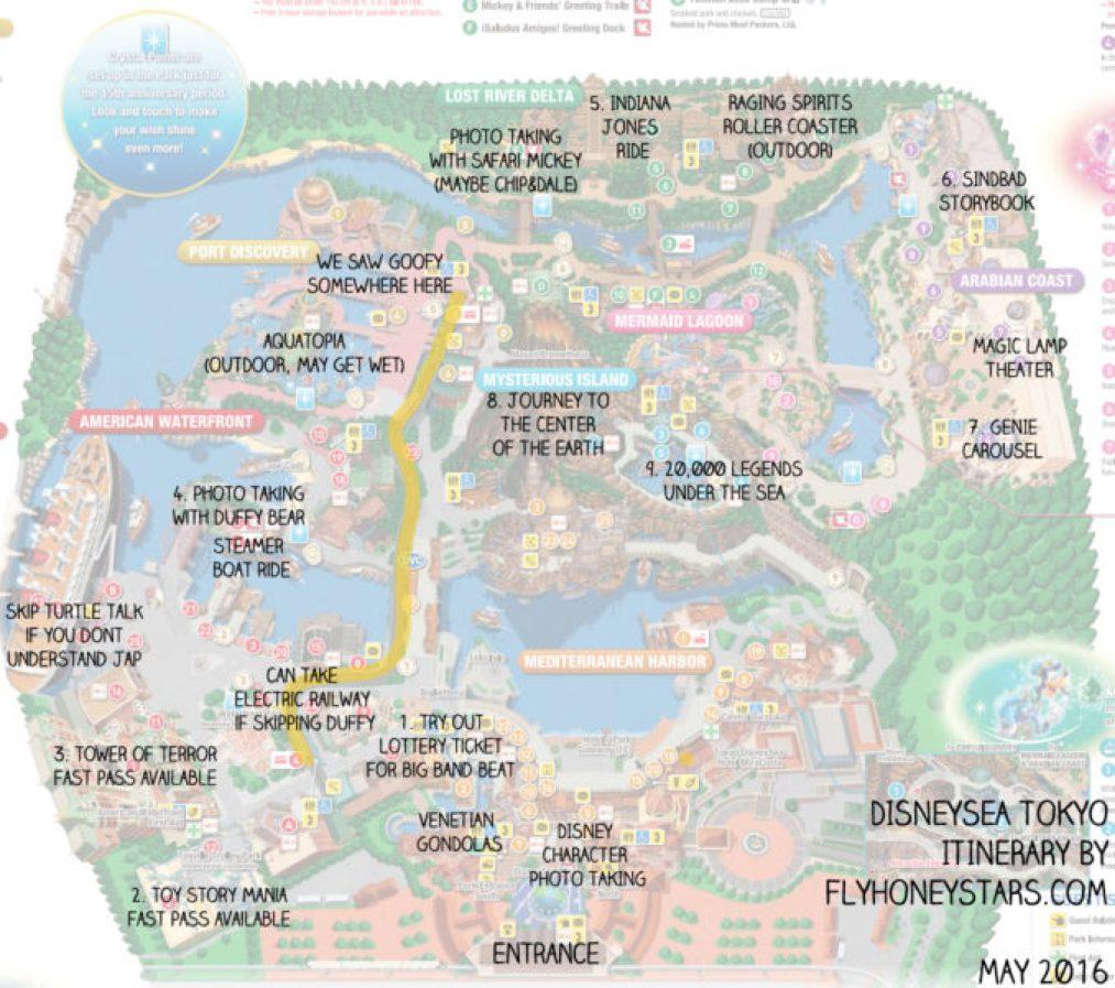 disneysea itinerary