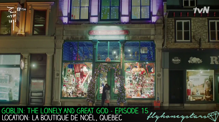 goblin drama location La Boutique de Noel quebec