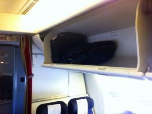 poussette dans l'avion