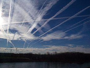 traits d'avion chemtrails